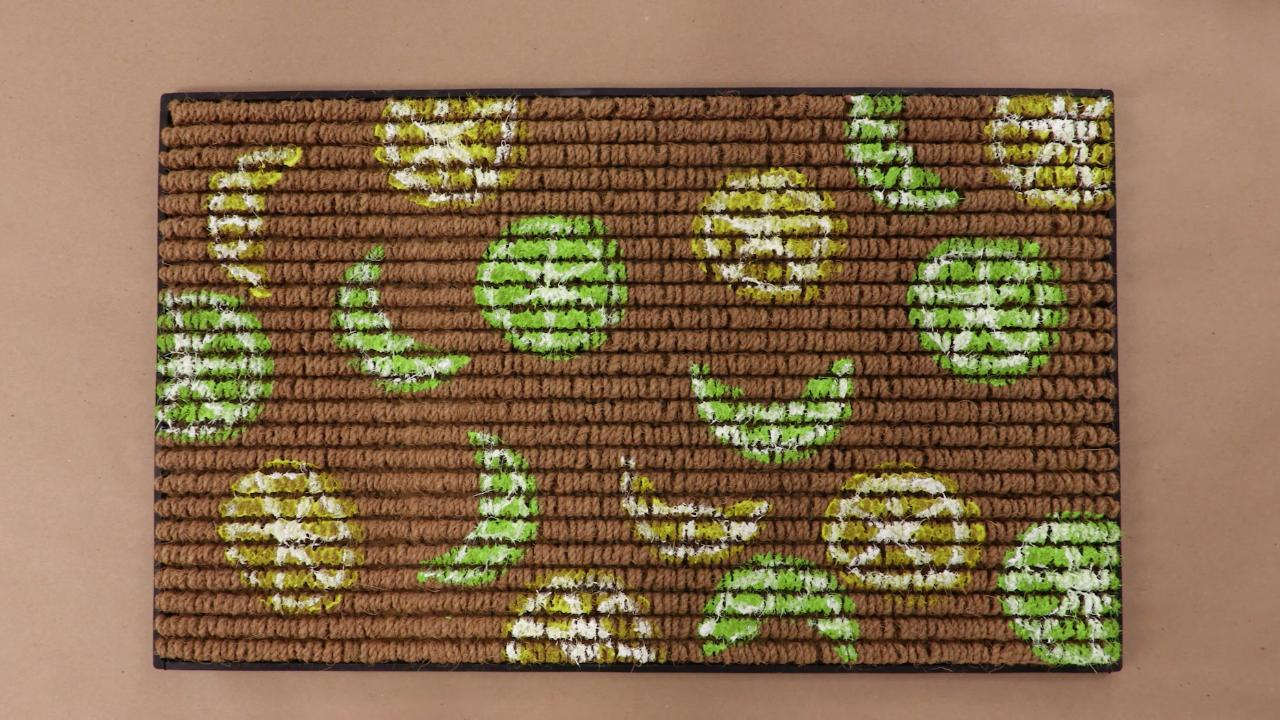 Lemon and Lime Stamped Doormat