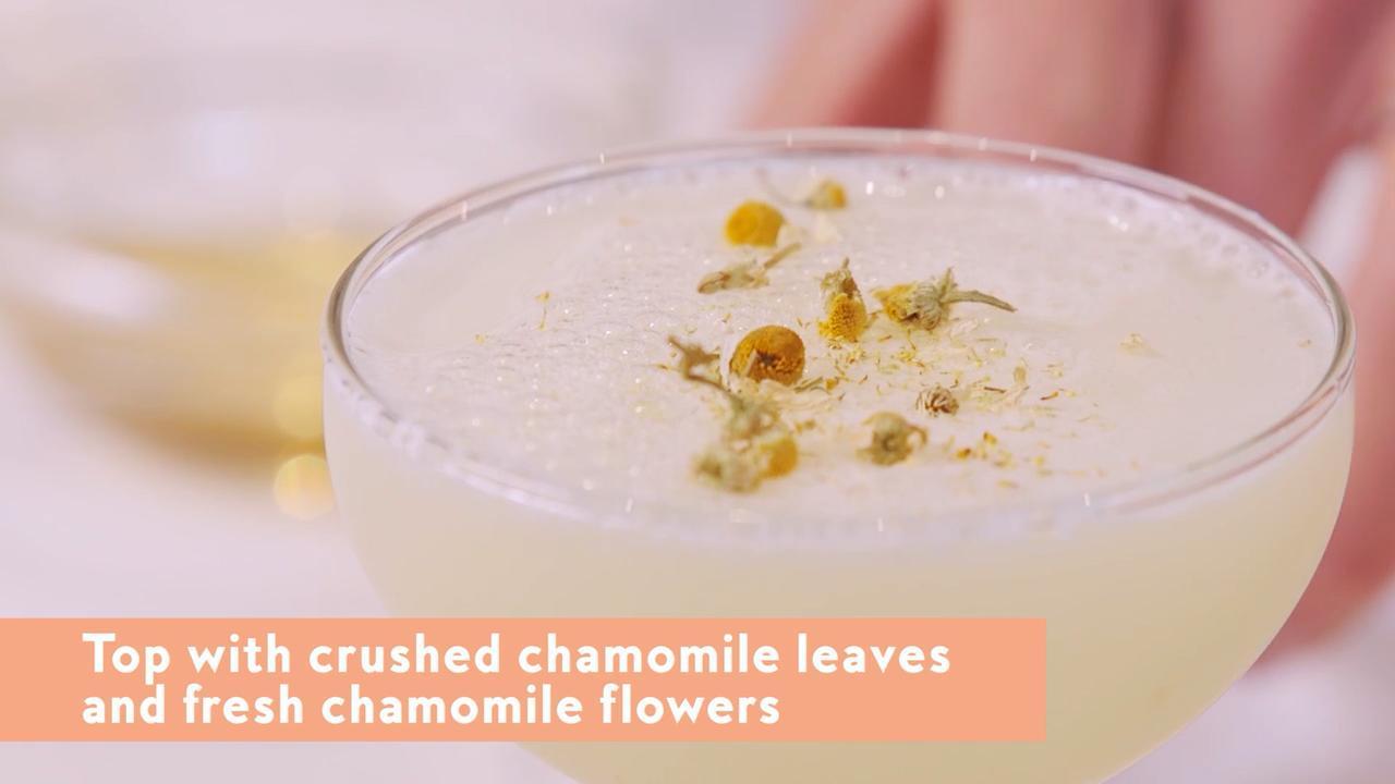 Chamomile Gin Sour Recipe