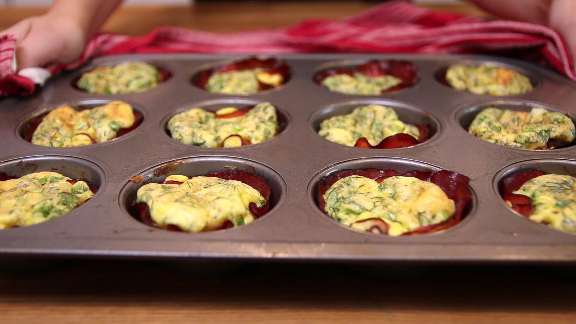 Bite-Size Baked Ham and Egg Cups
