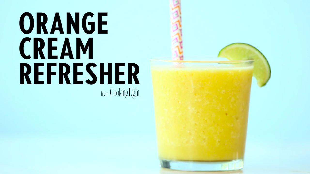 How to Make an Orange Cream Refresher