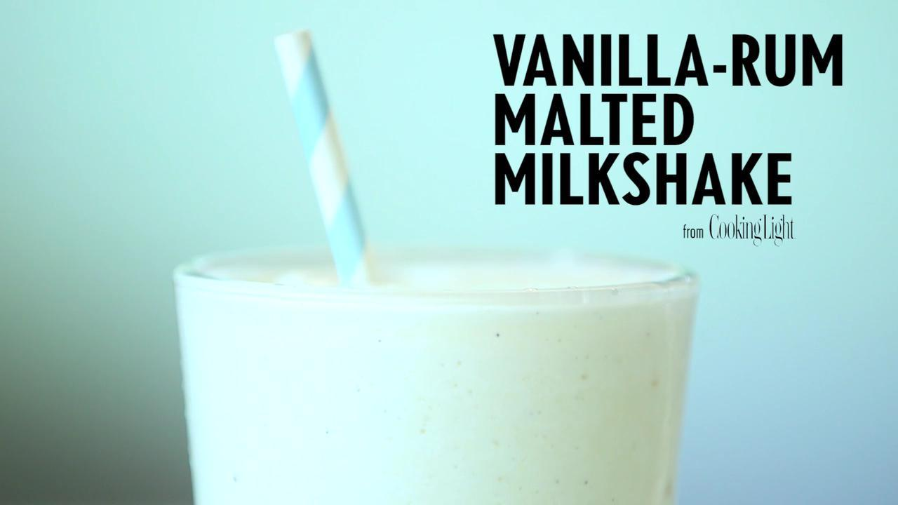 How to Make an Icy Vanilla-Rum Malted Milkshake
