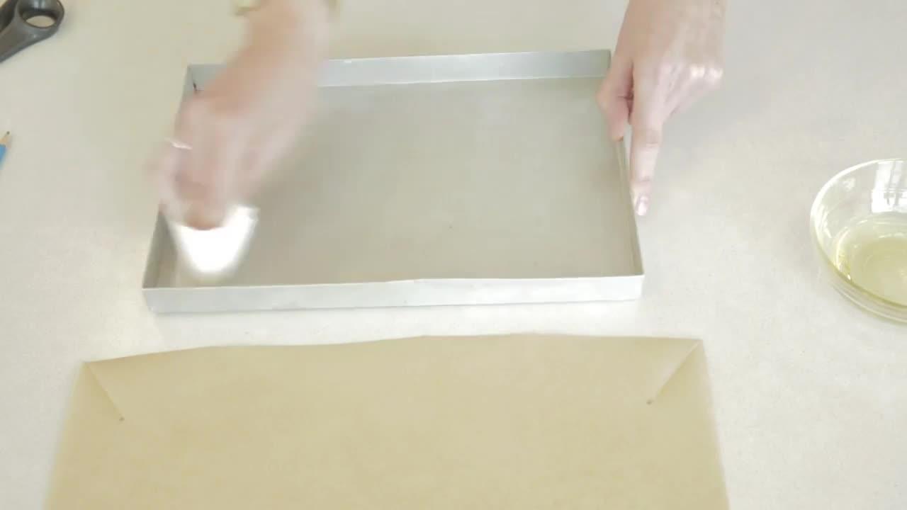 How to Line a Square Cake Tin