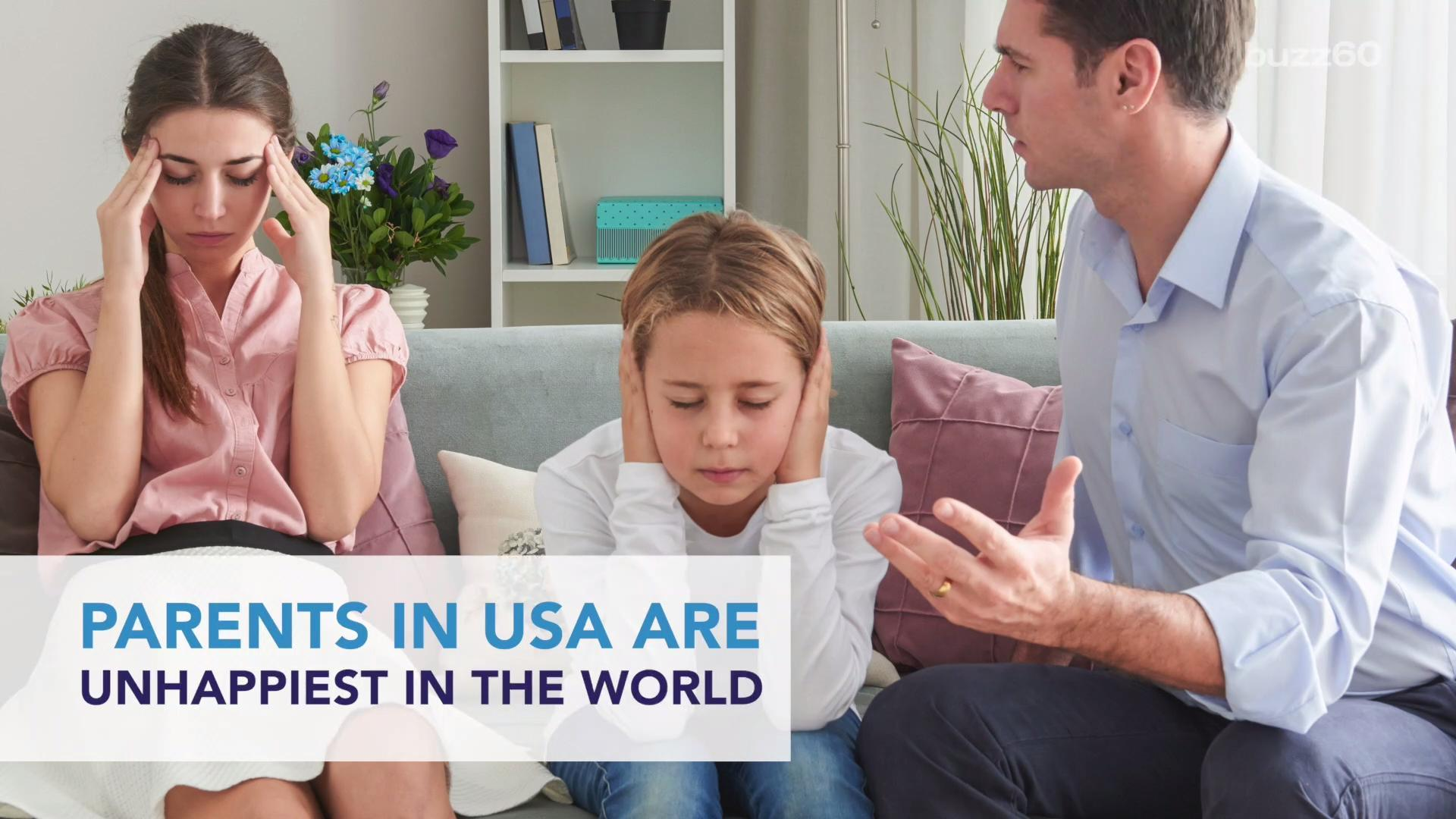 Parents in U.S. are Unhappiest in the World