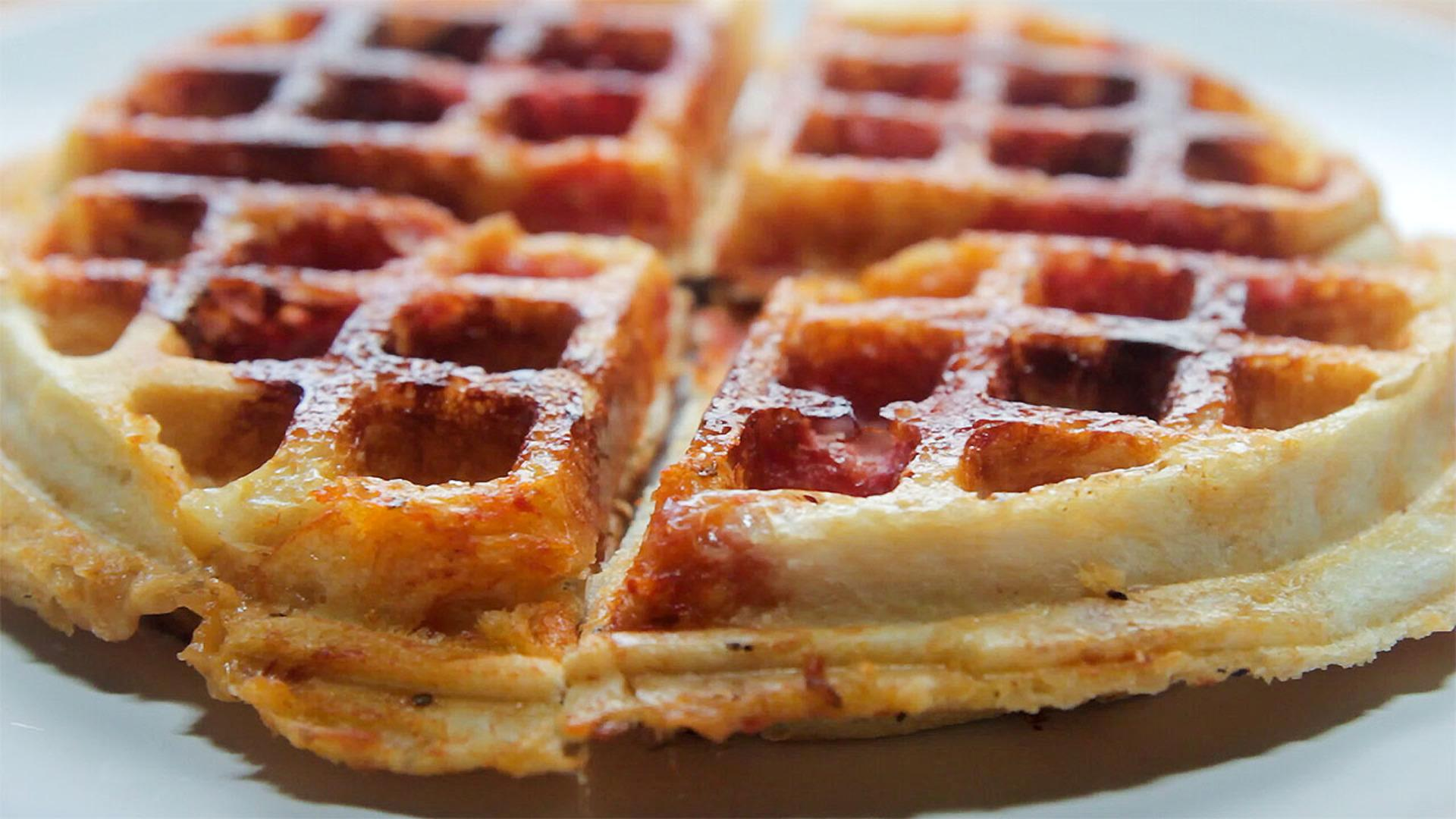Pizza Waffles, Way Better Than Pizza Bagels