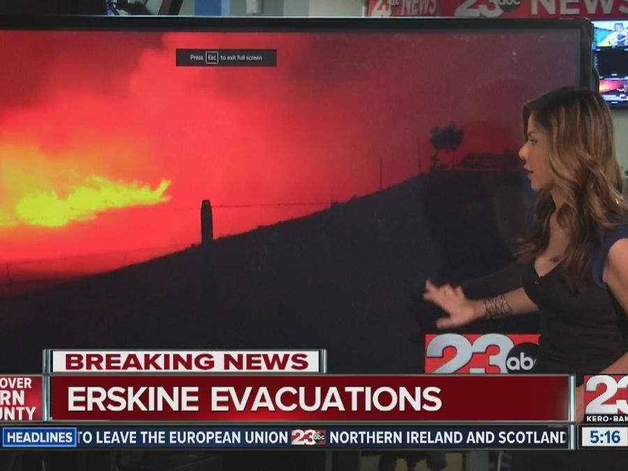 Erskine Fire engulfs Lake Isabella: 8,000 acres burning, 80 homes destroyed, 1,500 threatened
