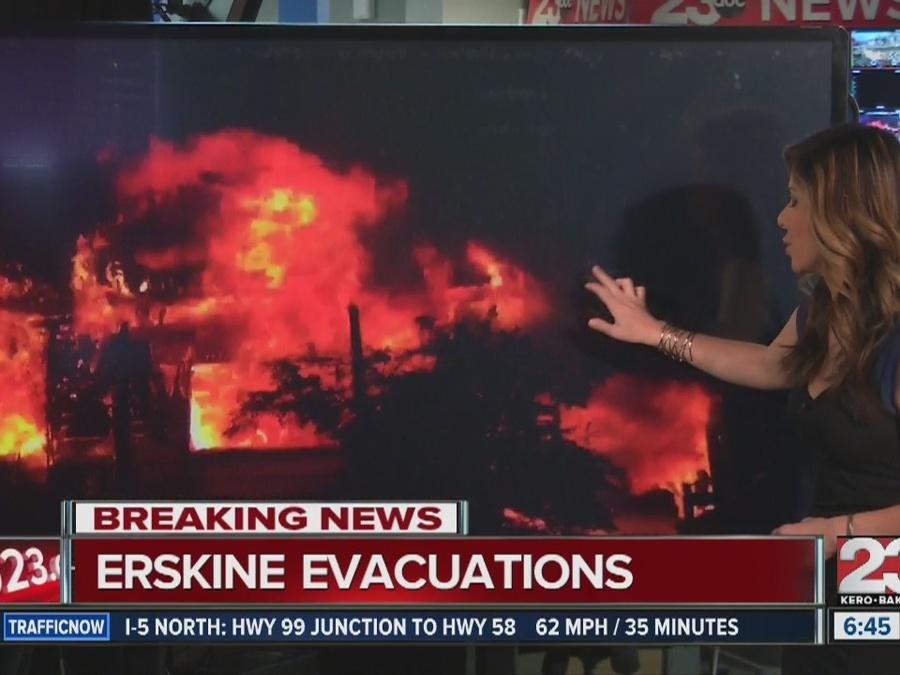 Erskine Fire destruction, 100 homes destroyed