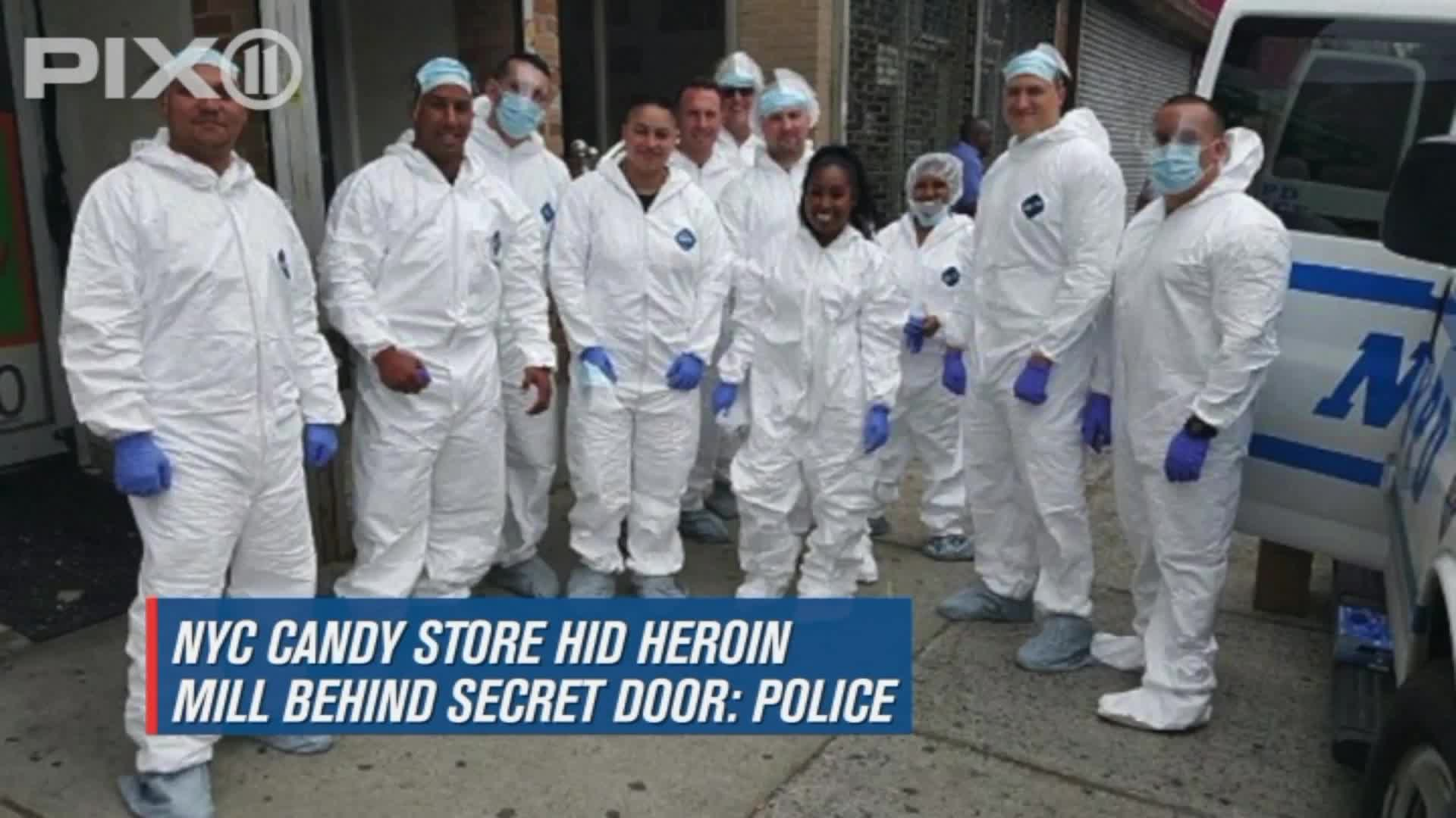 Police Say NYC Candy Store Hid Heroin Mill Behind Secret Door