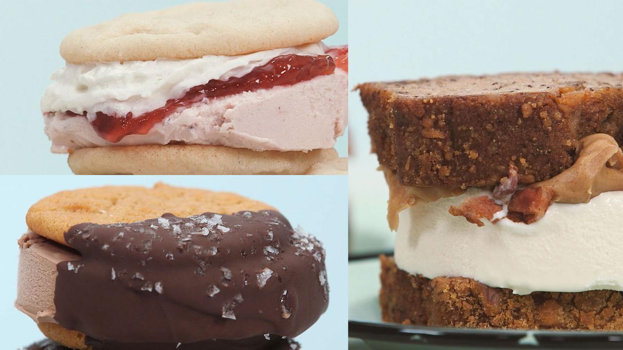 Three Heavenly Ice-Cream Sandwiches