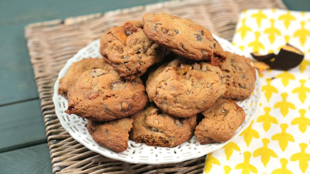 Chocolate Pecan Honeycomb Cookies Recipe