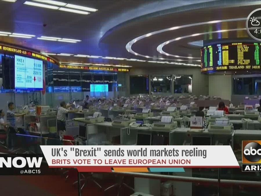 "UK's ""Brexit"" vote sends world markets reeling"