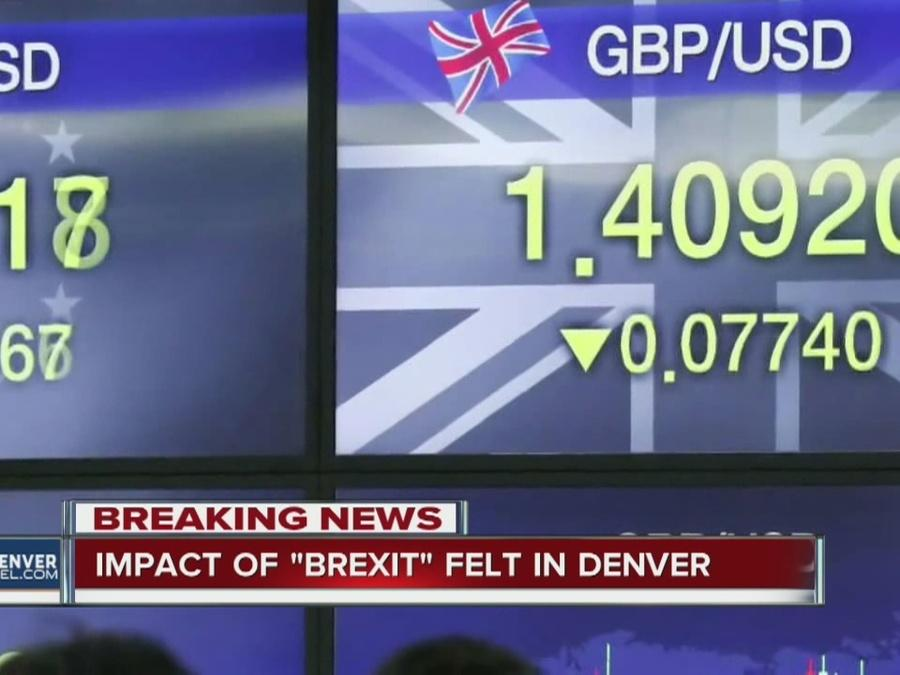 "Impact of ""Brexit' felt in Denver"