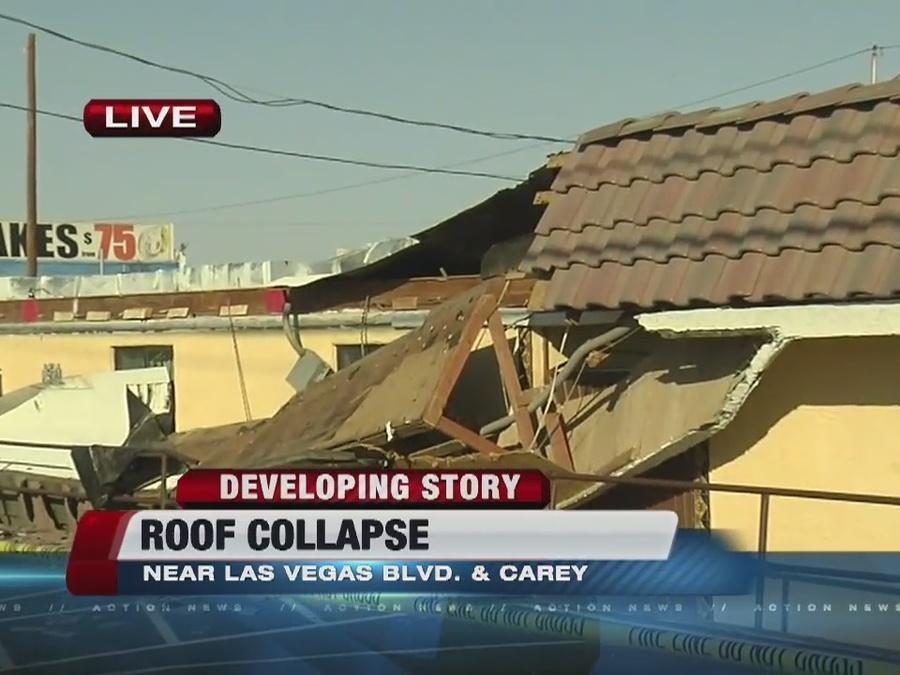Apartment roof collapses in North Las Vegas