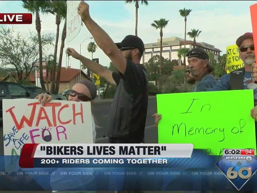 Hundreds of motorcycles take to the streets in awareness movement
