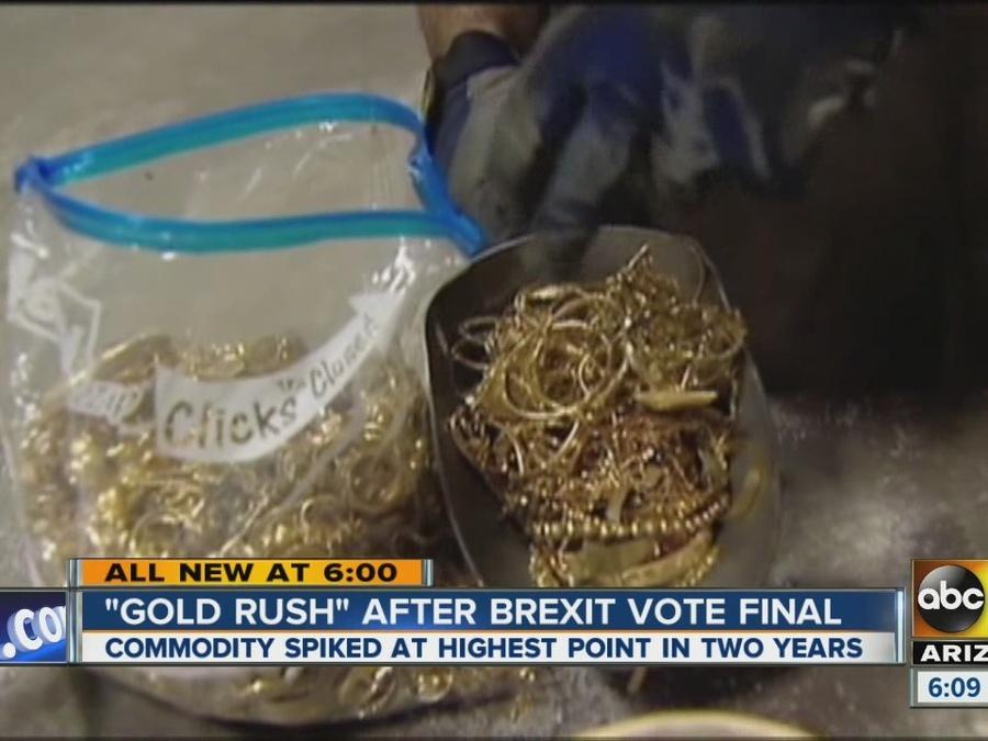 """""""Gold rush after Brexit vote final"""