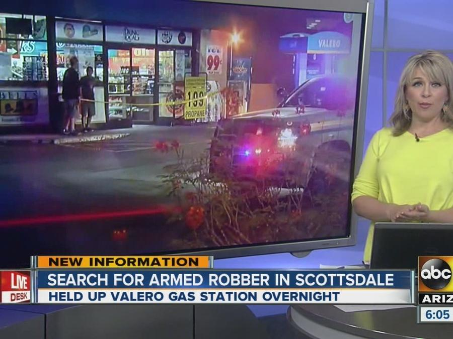 Search on for armed robber in Scottsdale