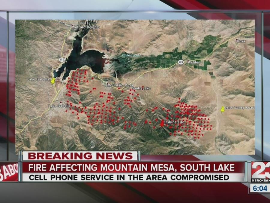 Erskine Fire destroys upwards of 100 homes in Lake Isabella, burns 30k acres; 2 dead