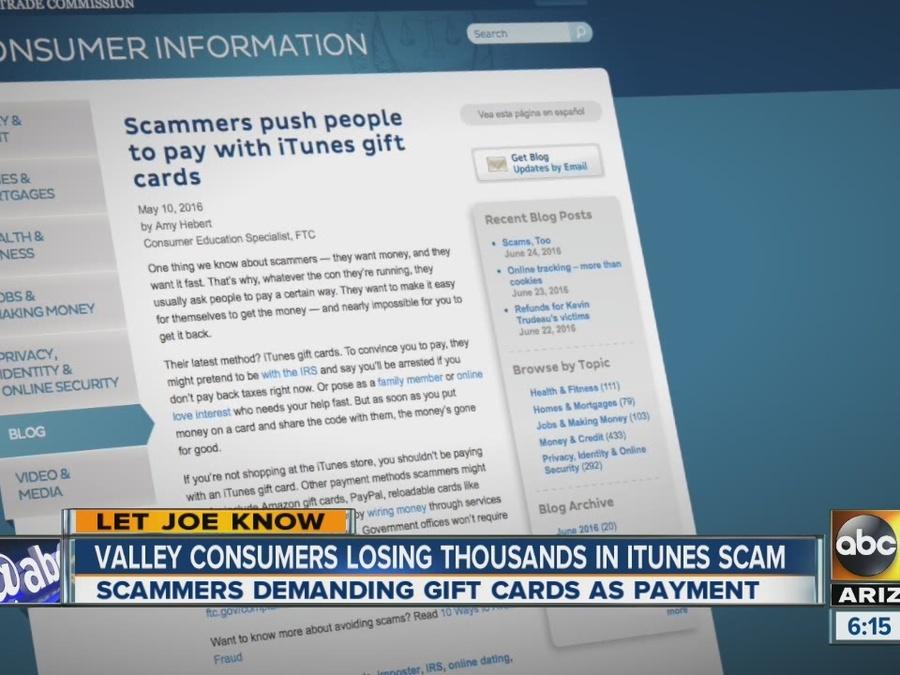 Valley consumers losing thousands in iTunes scam