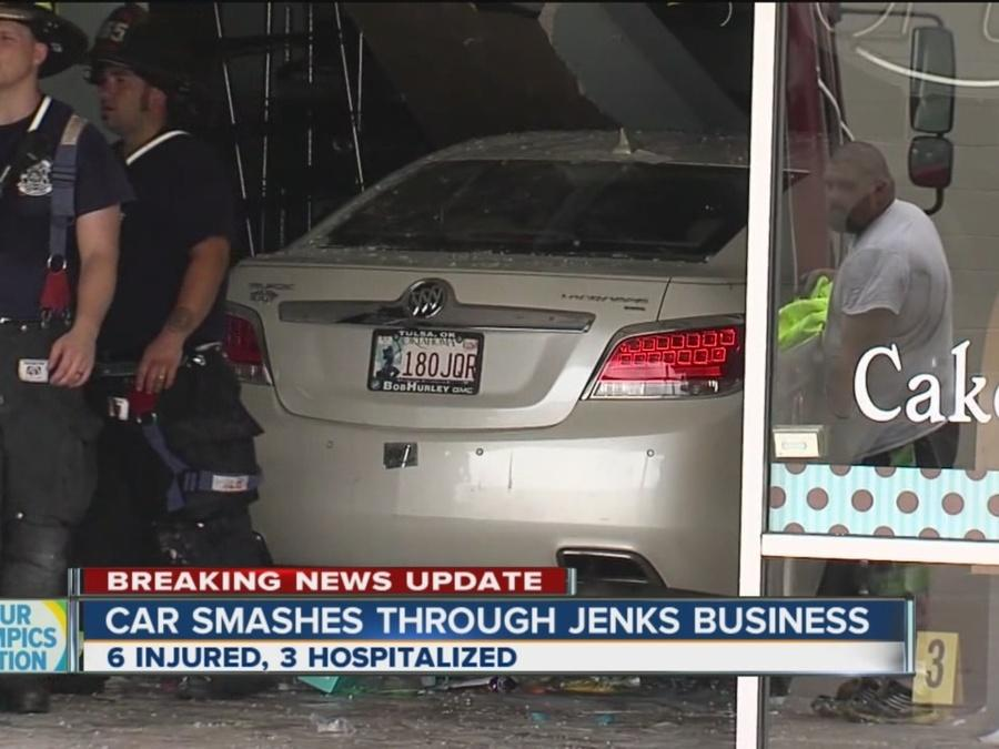 Car Smashes Through Jenks Business