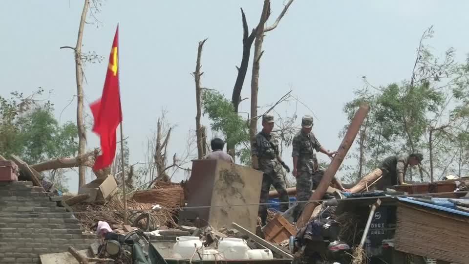China storm chaos