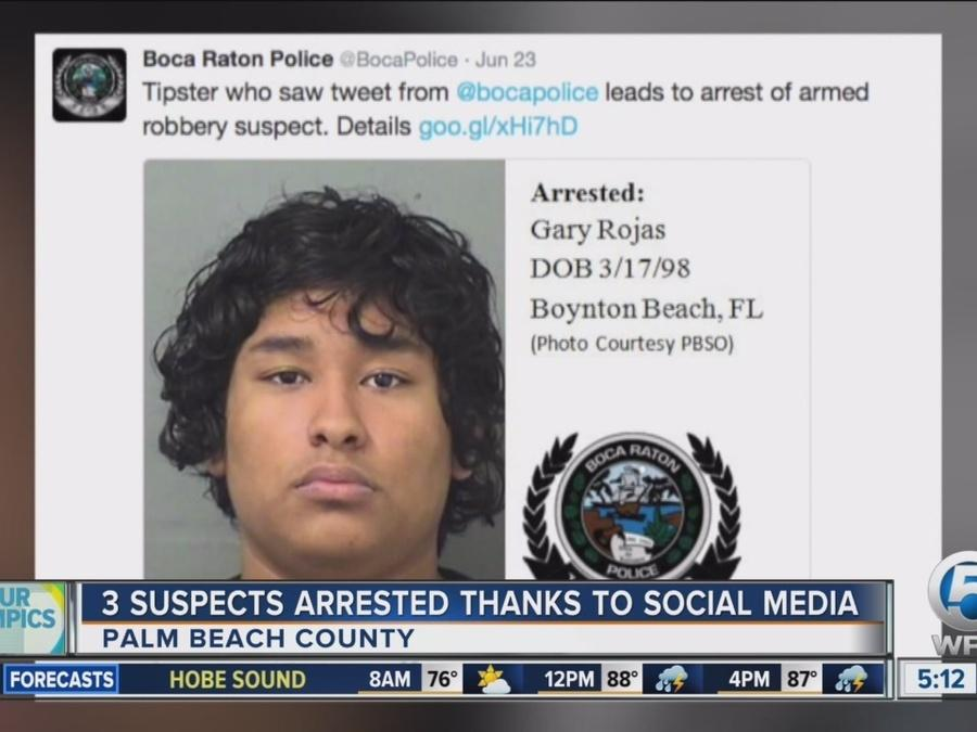 3 suspects arrested thanks to social media