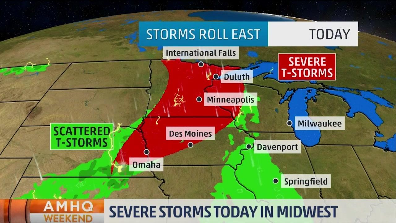 Upper Midwest to See Thunderstorms This Weekend
