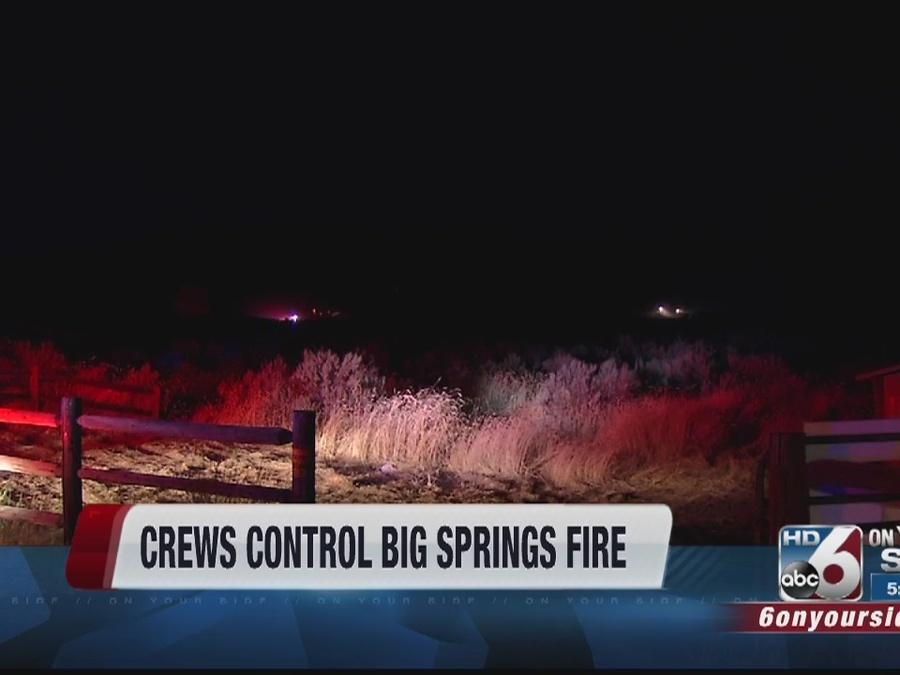 Crews battle small fires in Treasure Valley