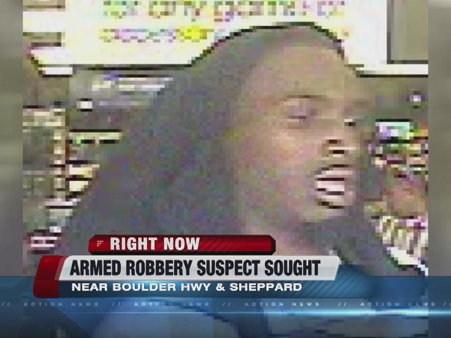 Boulder Highway armed robbery suspect sought