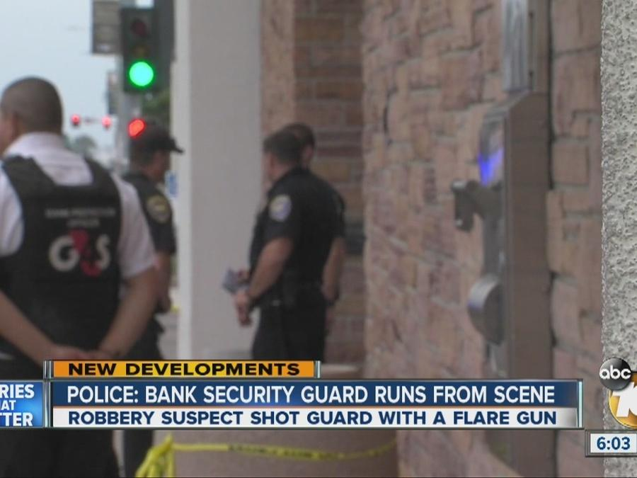 Police:Guard Runs From Scene After Attempted Bank Robbery