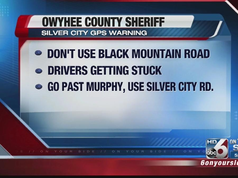 Officials: Ignore your GPS heading to Silver City