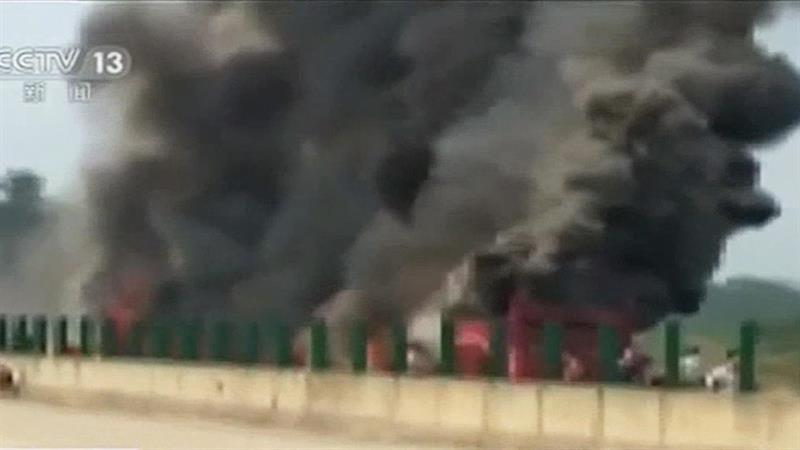 Dozens Killed in Bus Fire in China