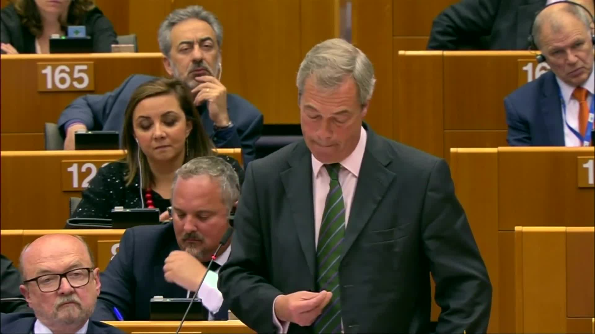 "Farage tells EU MPs, ""You're not laughing now are you?"""