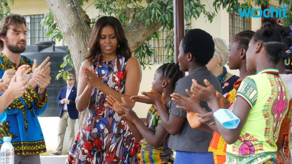 Michelle Obama Visits Liberia to Encourage Girl Education