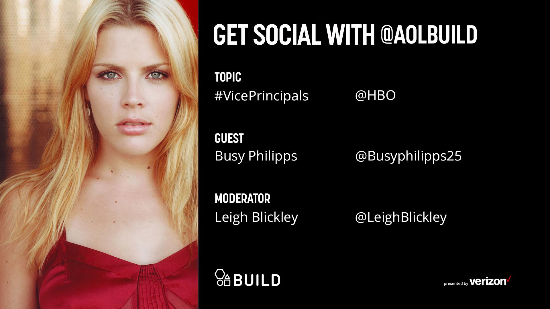 Busy Philipps LIVE on AOL BUILD