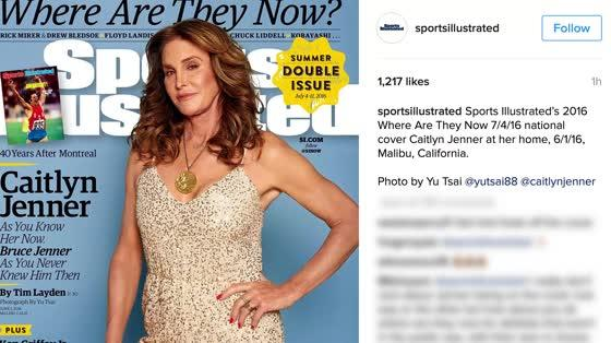 Caitlyn Jenner Poses With Her Gold Medal on Sports Illustrated Cover