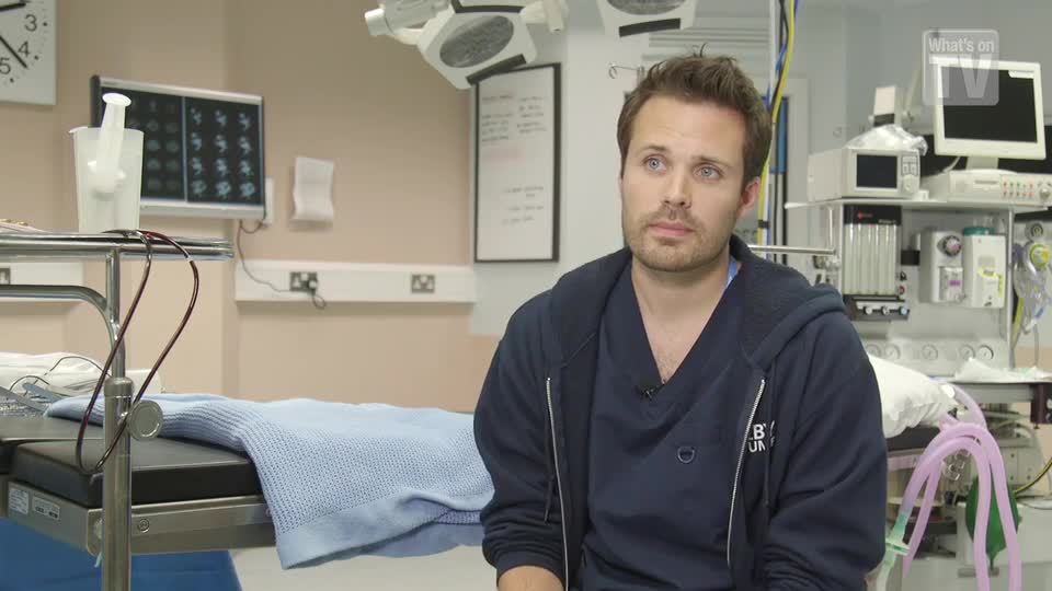 Holby's James Anderson: 'I wasn't hurt in real life!'