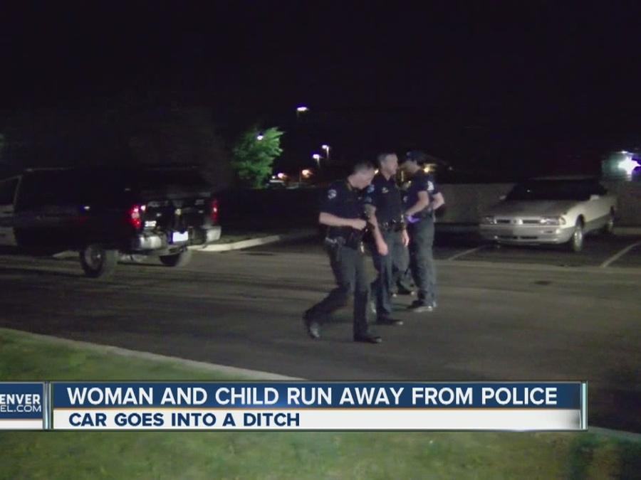 Woman fled from officers with 7-year-old in car, police say