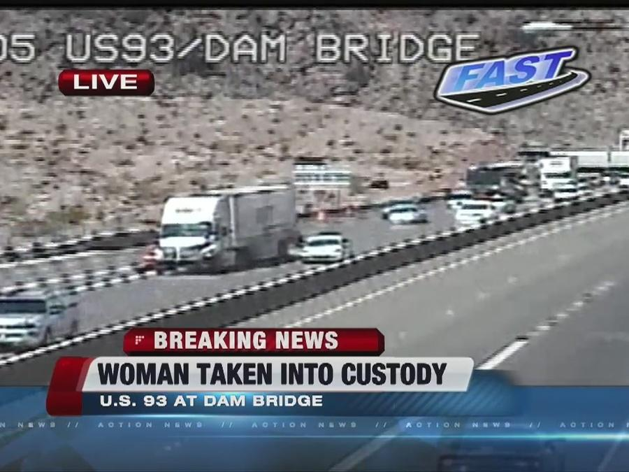 UPDATE: Woman safe after Hoover Dam incident