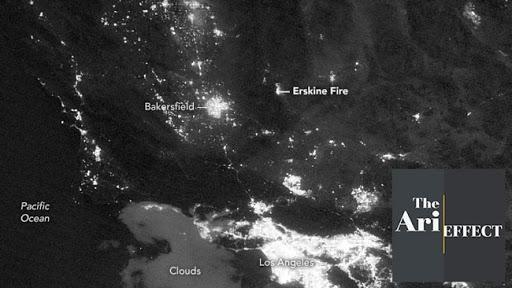 California Wildfire Seen From Space