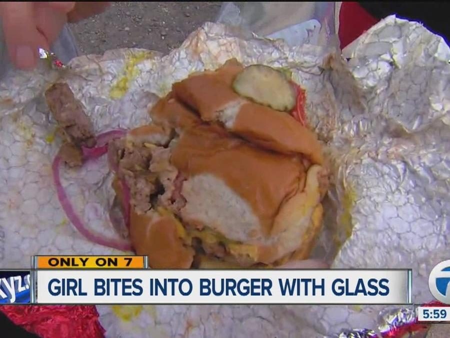 Dangerous bite into a Wendy's burger
