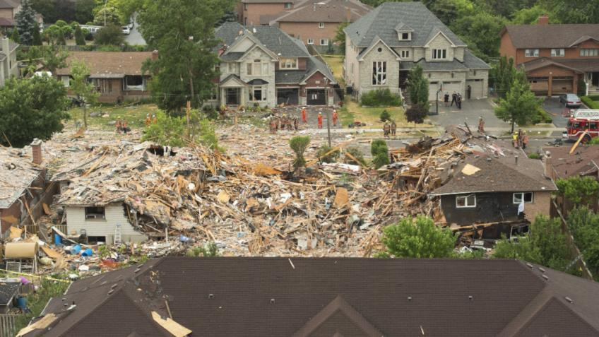 A least one dead in house explosion in Mississauga, Ont