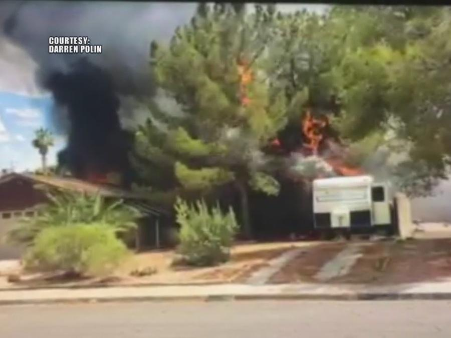 Two Henderson homes catch fire on Tuesday
