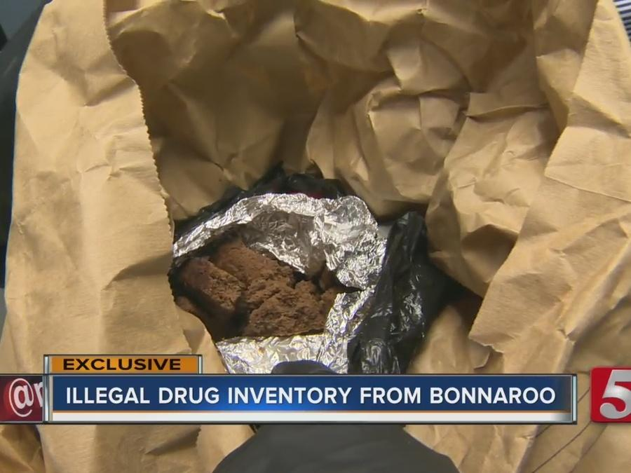 Police Take Inventory Of Drugs Seized At Bonnaroo