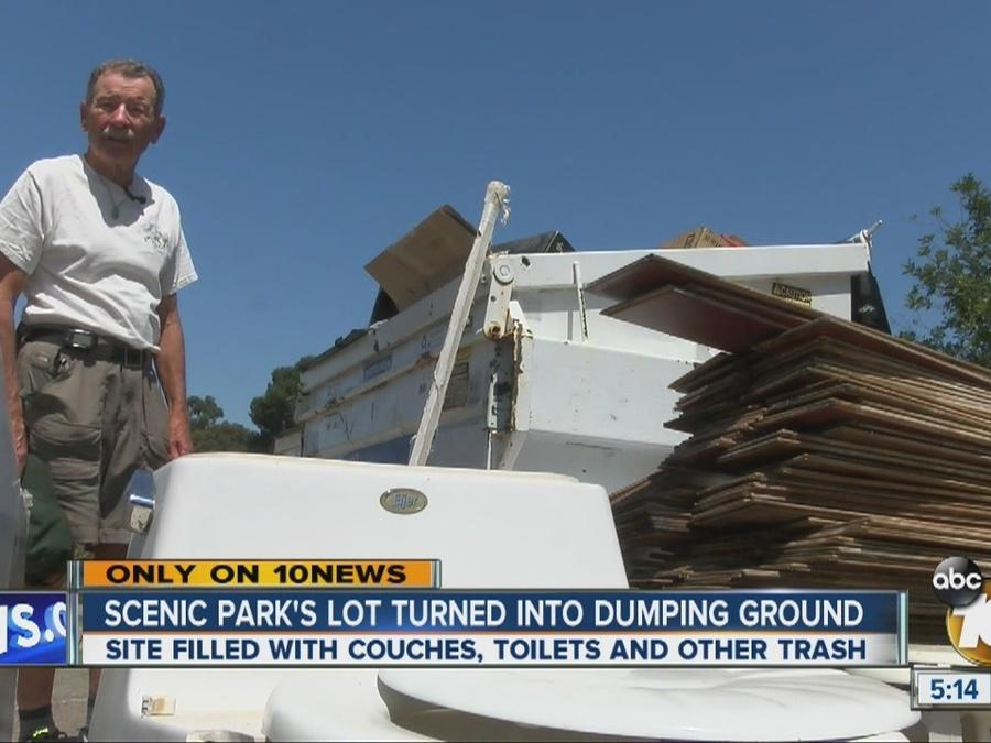 Scenic park's lot turned into dumping ground