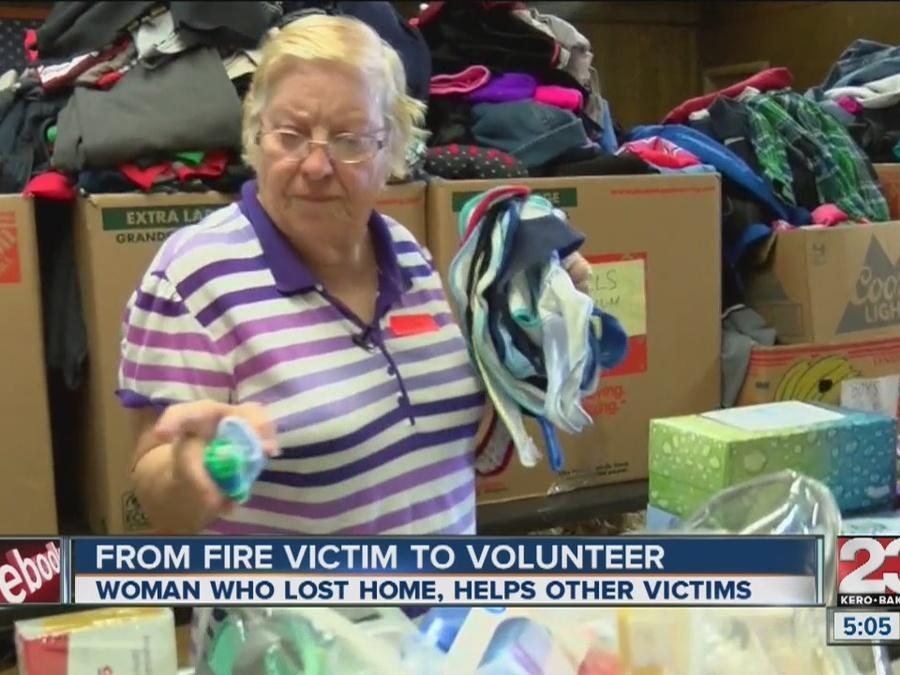 Woman who lost home in Erskine Fire helping other victims