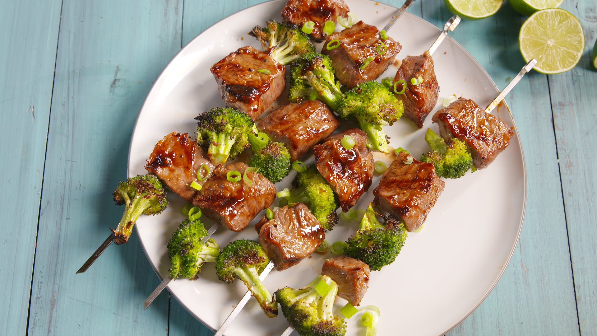 How to Make Beef and Broccoli Kebabs