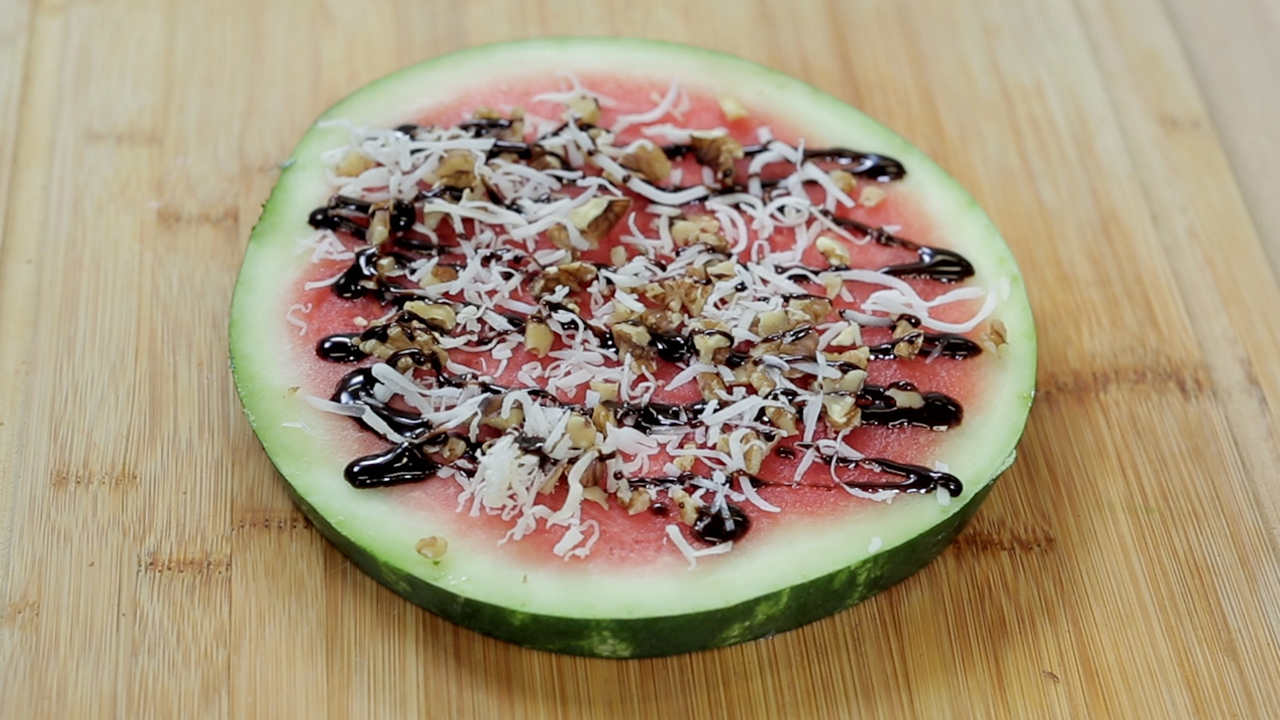 Savory and Sweet Watermelon Pizzas