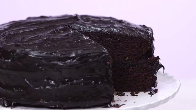 How to Make Dark Chocolate Avocado Cake