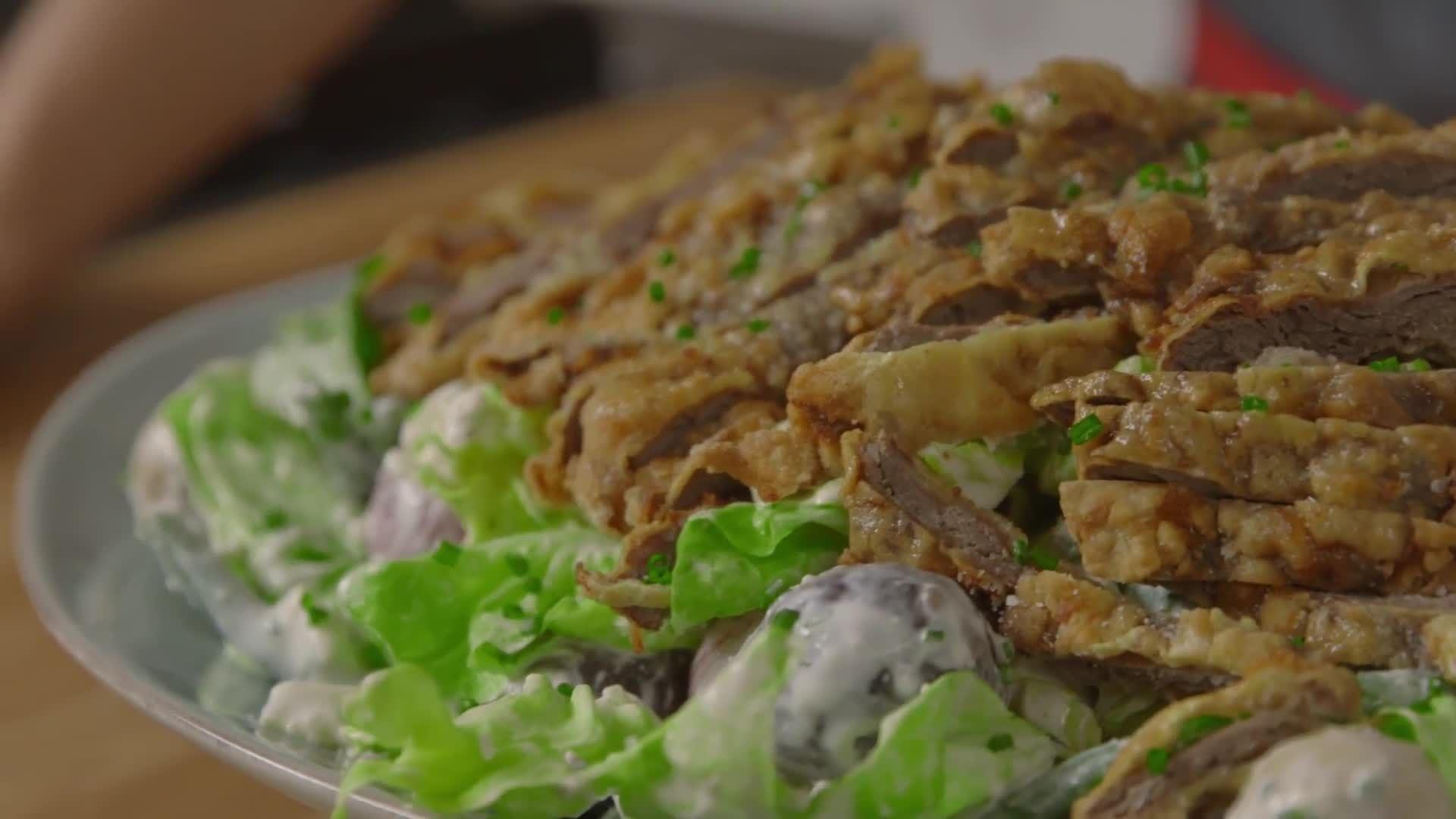 How to Make Country Fried Steak Salad
