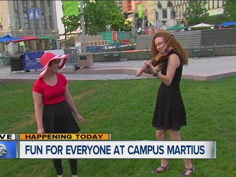 Fun for everyone at Campus Martius Park