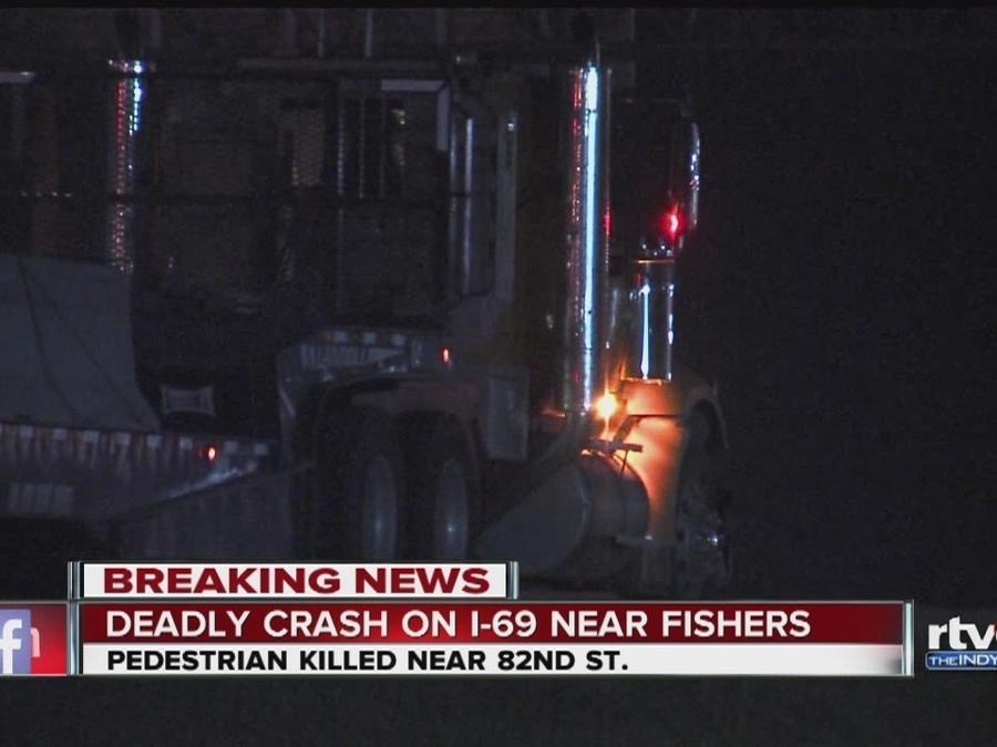 Pedestrian killed in crash on I-69 in Fishers